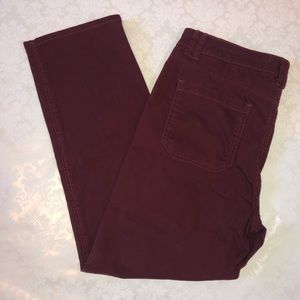 NWOT Jordache Maroon High Rise Straight Jeans S 14